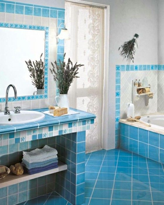 Badezimmer Ideen Blau | Baby BLUES | Bad fliesen ideen ...