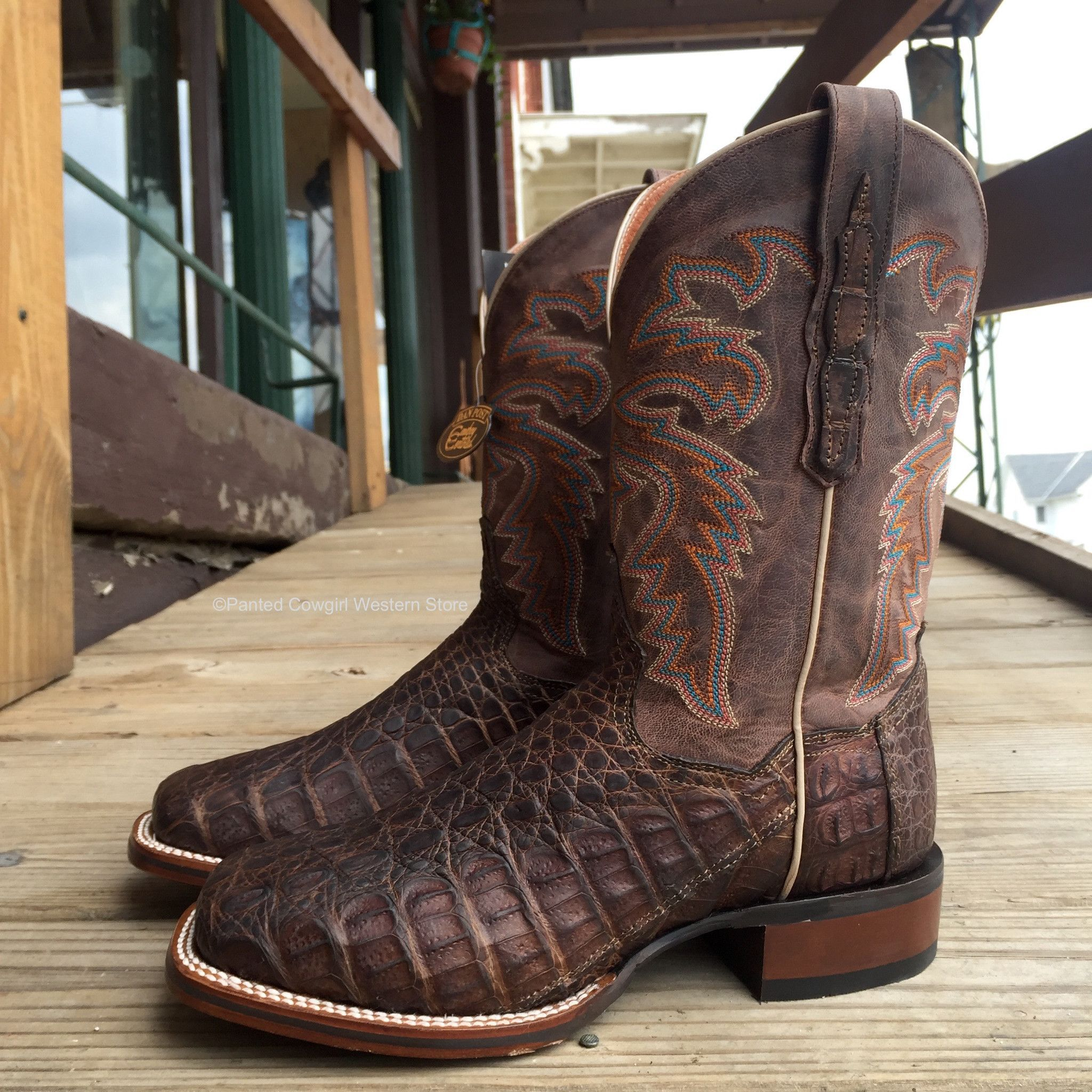 8f07590cecc Dan Post Men's Denver Caiman Handmade Cowboy Certified Boots DP3965 ...