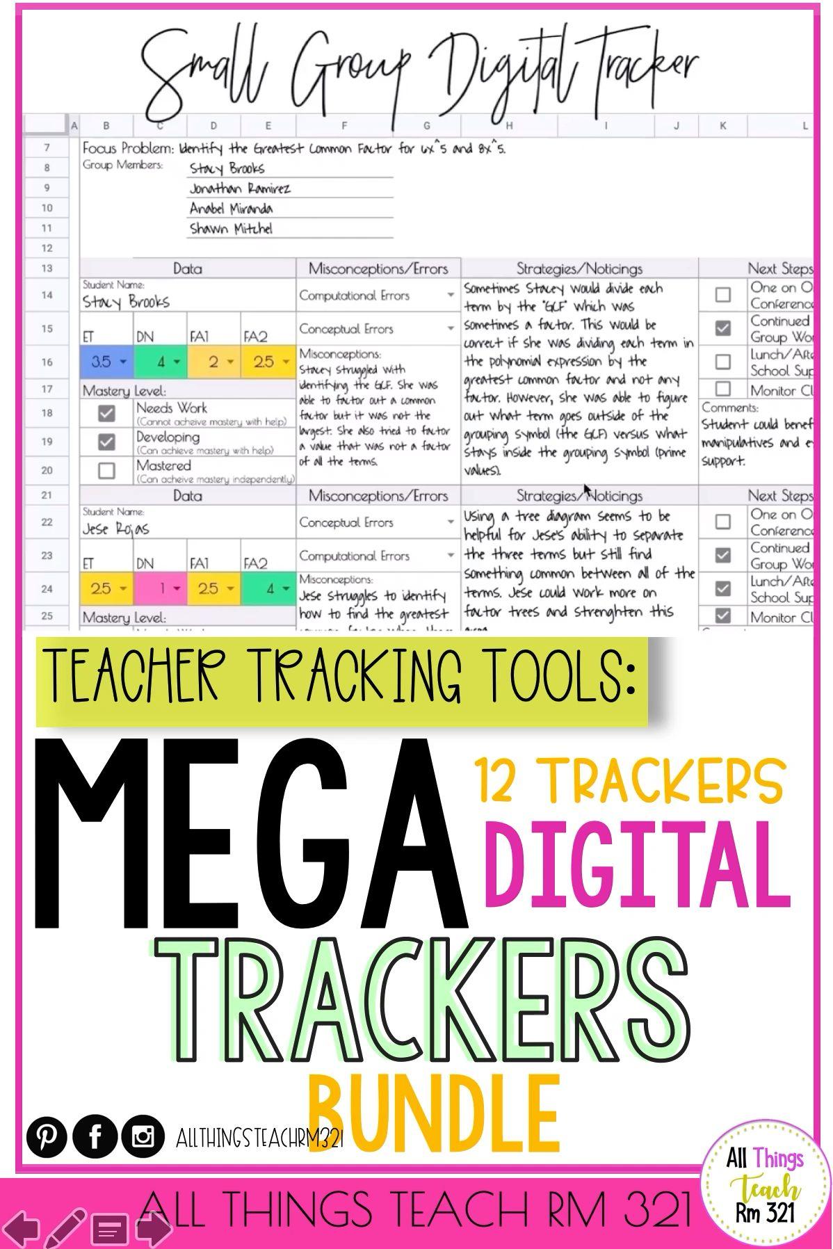 Photo of MEGA TRACKERS Bundle: 12 DIGITAL Trackers +… by All Things Teach Rm 321 | Teachers Pay Teachers