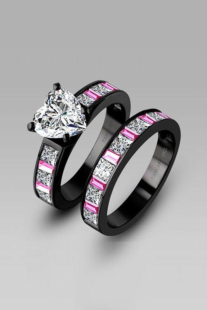 54 Budget Friendly Engagement Rings Under 1000 Wedding Forward Black Engagement Ring Black Wedding Rings Wedding Ring Sets