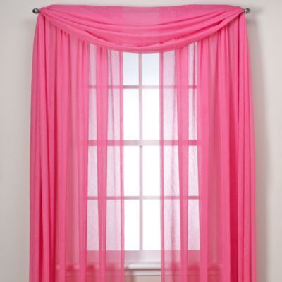 Crushed Voile Sheer Rod Pocket Window Curtain Panel Drapes