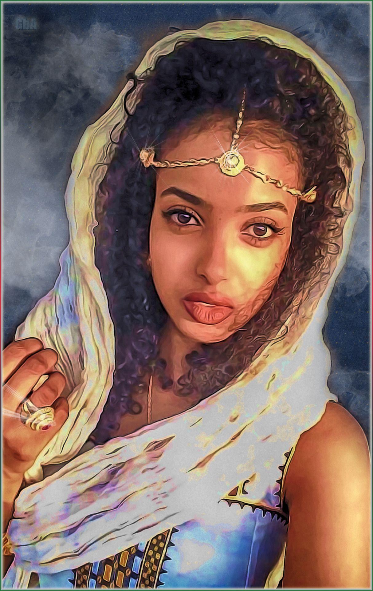Eritreanbeauty01d by lordrakim Black women art, Female
