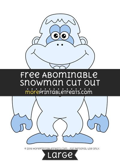 Free Abominable Snowman Cut Out - Large Free Printable Cut Outs