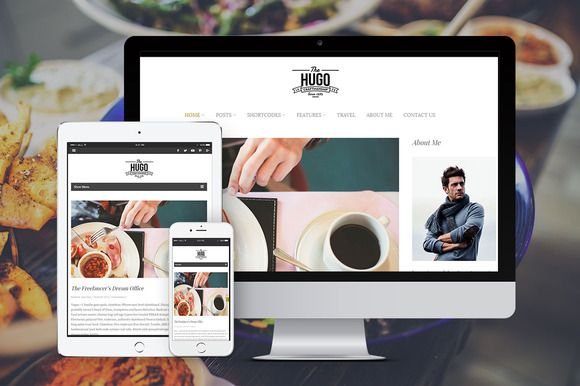 Hugo - Stylish Wordpress Blog theme