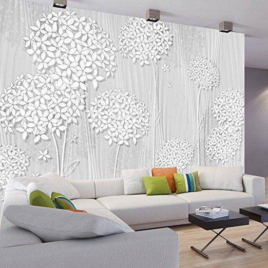 murando - Fototapete Blumen 350x245 cm - Vlies Tapete - Moderne - moderne wohnzimmer tapeten
