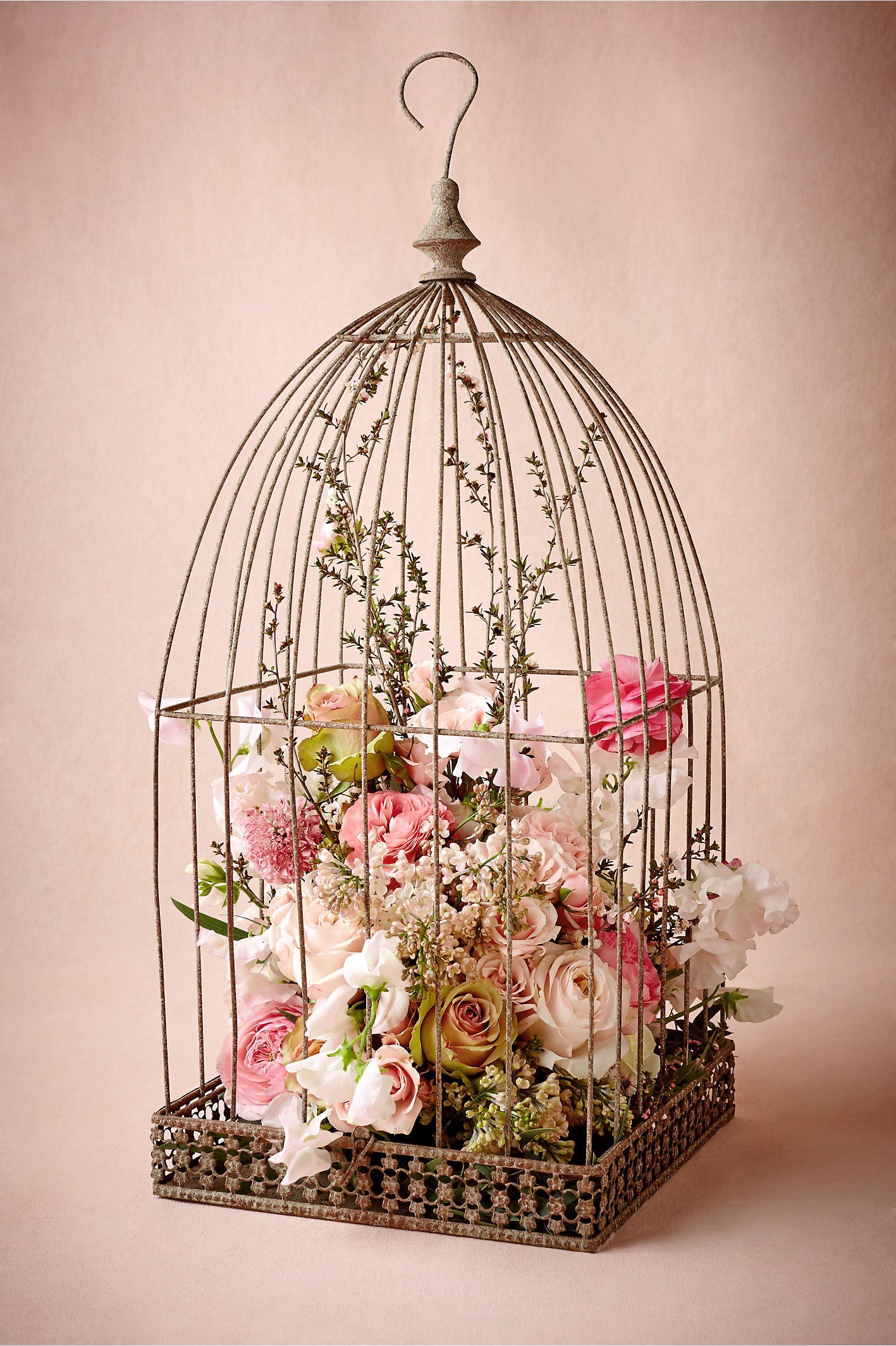 birdcage with flowers botanical bridal shower centerpiece bbat