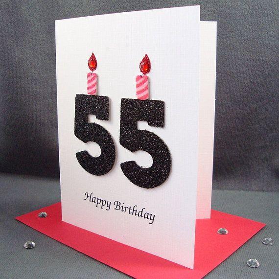 55th Birthday Card Milestone Greeting By ZeeBestCards