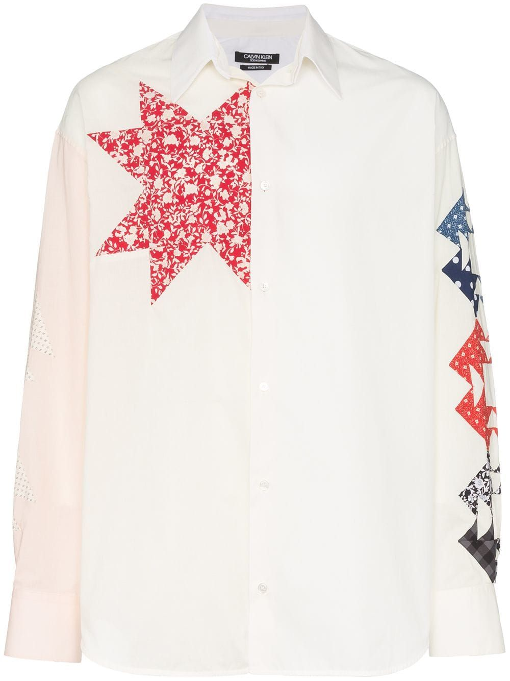 Calvin Klein 205W39nyc triangle embroidered cotton shirt