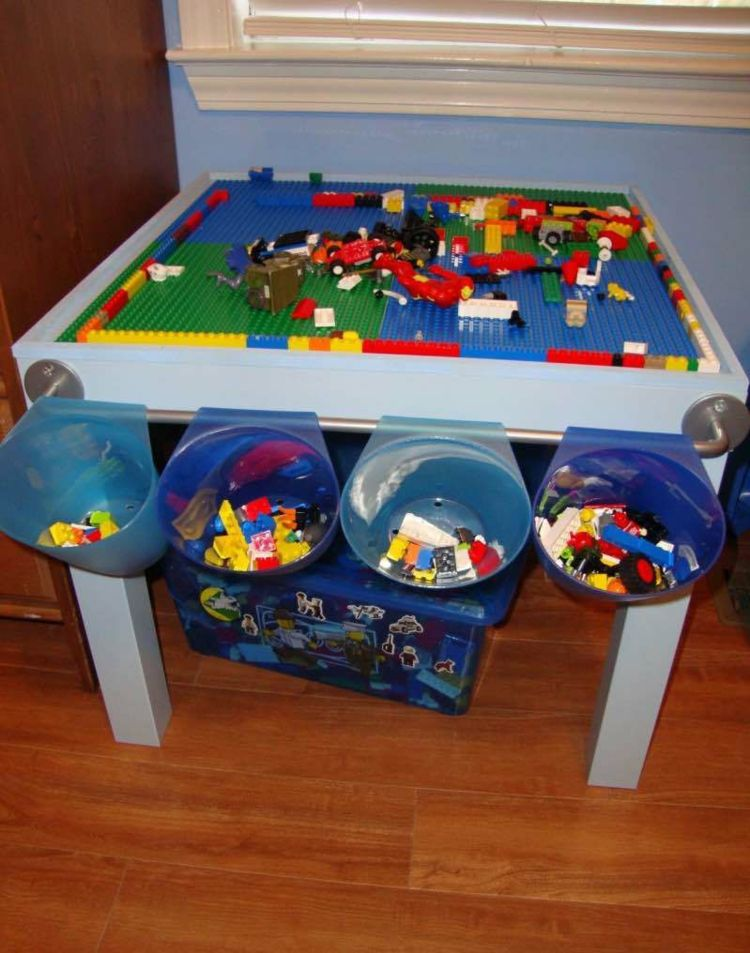 Legotisch, IKEA Hack, DIY, IKEA, Lego, Spielzimmer