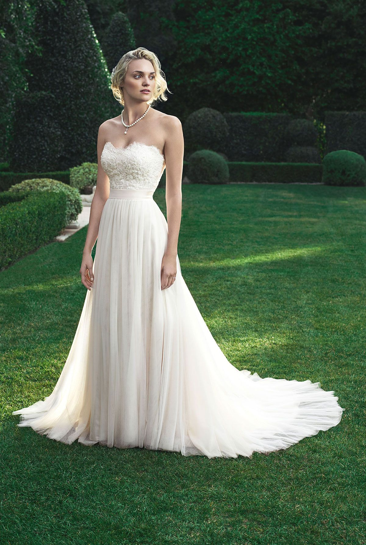 Casablanca Bridal - Cole. Baby doll silhouette shaped gown made of a ...