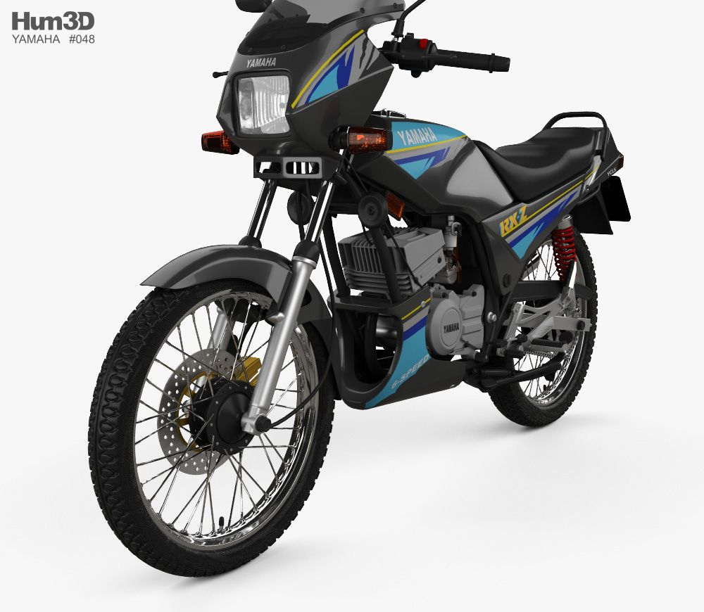 3d Model Of Yamaha Rxz 135 1997 Yamaha Rxz Yamaha Yamaha Bikes