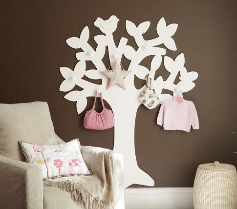 Arbol madera decoracion infantil y juvenil pinterest - Percheros para ninas ...