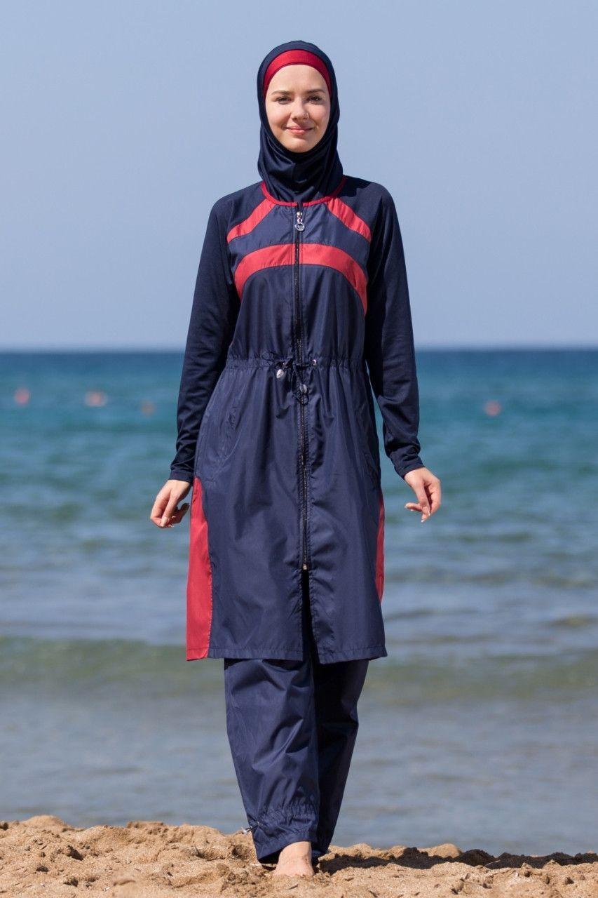 e4eb1e2630ce5 Adabkini HANDE Women's Swimsuit Full Cover Hijab Burkini Islamic, Hindu,  Arab, Jewish Swimwear