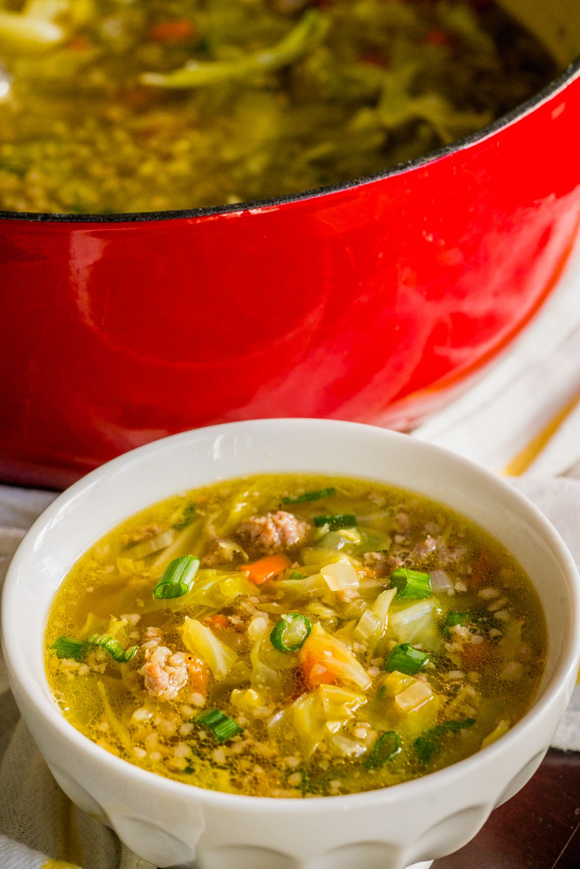 Egg roll soup recipe cooking dinner lean and green
