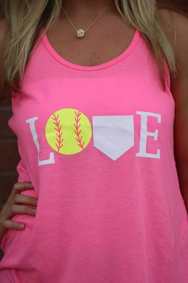 Fun Softball Or Baseball Design. Use Heat Transfer Materials And A Heat  Press To Design Your Own Apparel.