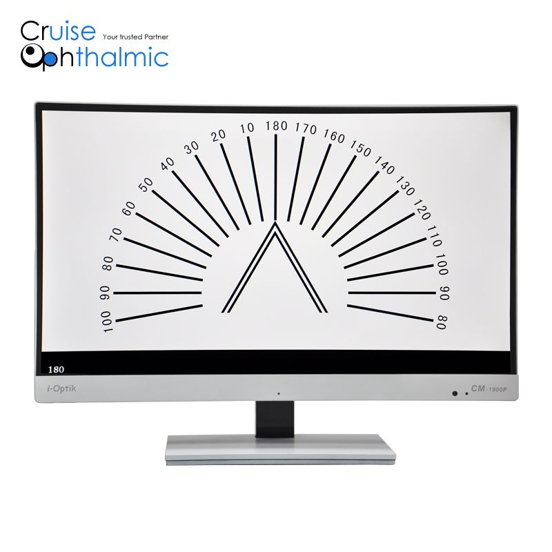 23 inch LCD eye chart possible to be synchronized with auto phoropter | good quality LCD Vision Charts CM1900P