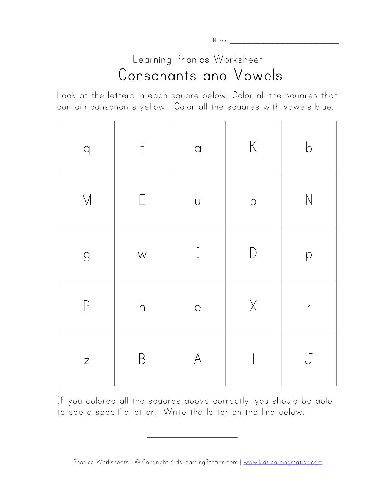Consonants Vowels Worksheet With Images