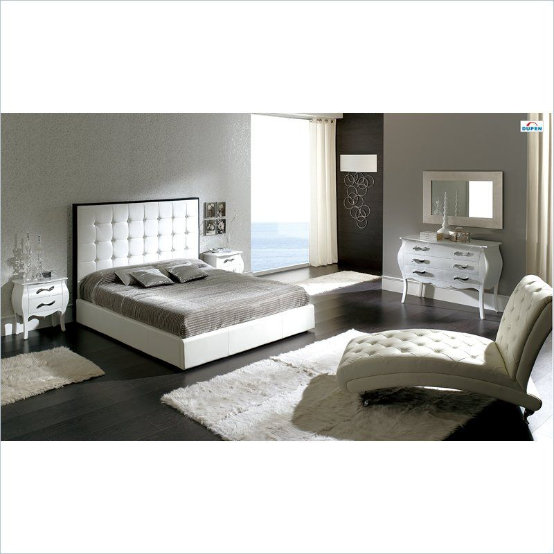 Dupen Penelope Storage Bed in White   House design   White leather ...