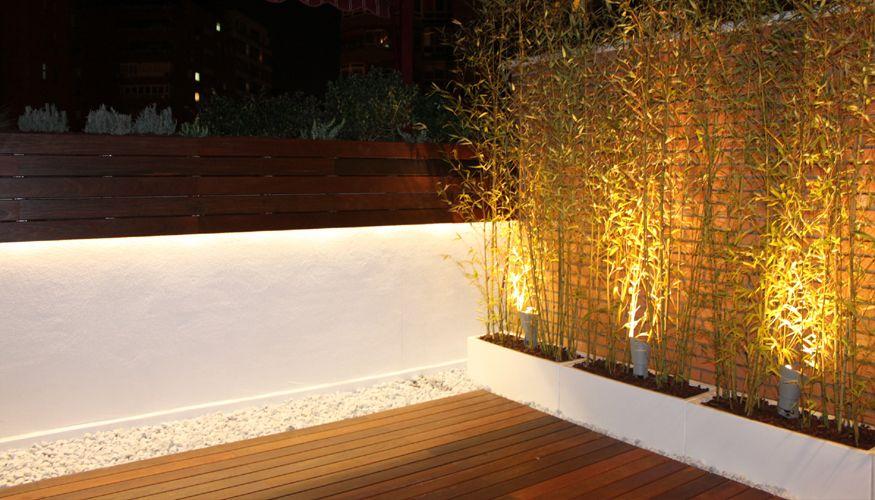 jardin iluminacion