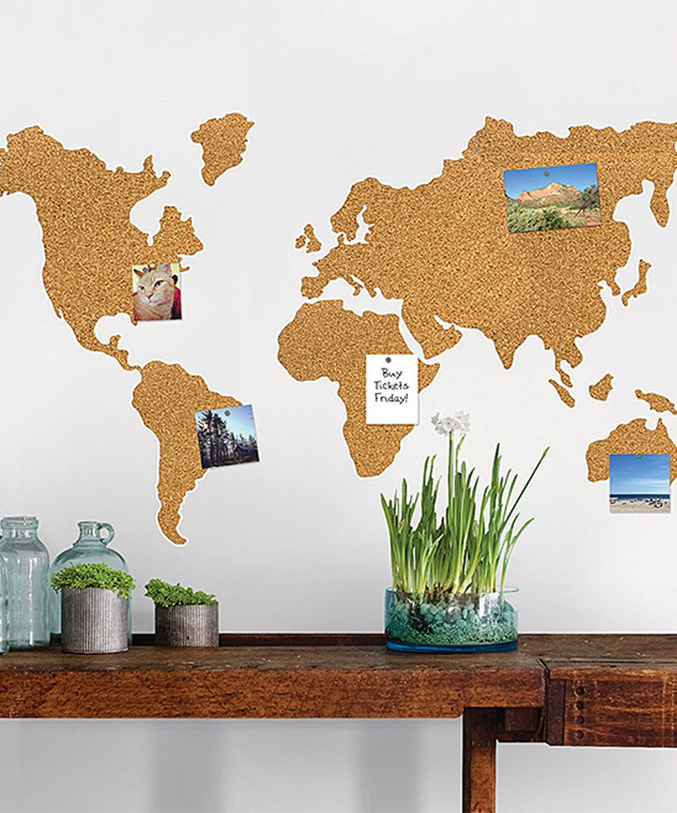 Take a look at this world map corkboard wall decal today ad take a look at this world map corkboard wall decal today ad gumiabroncs Choice Image