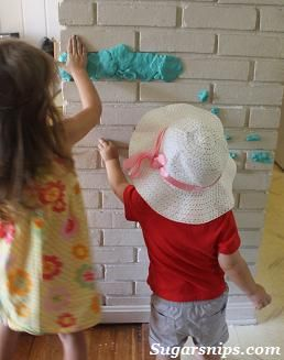 Playdough on the wall