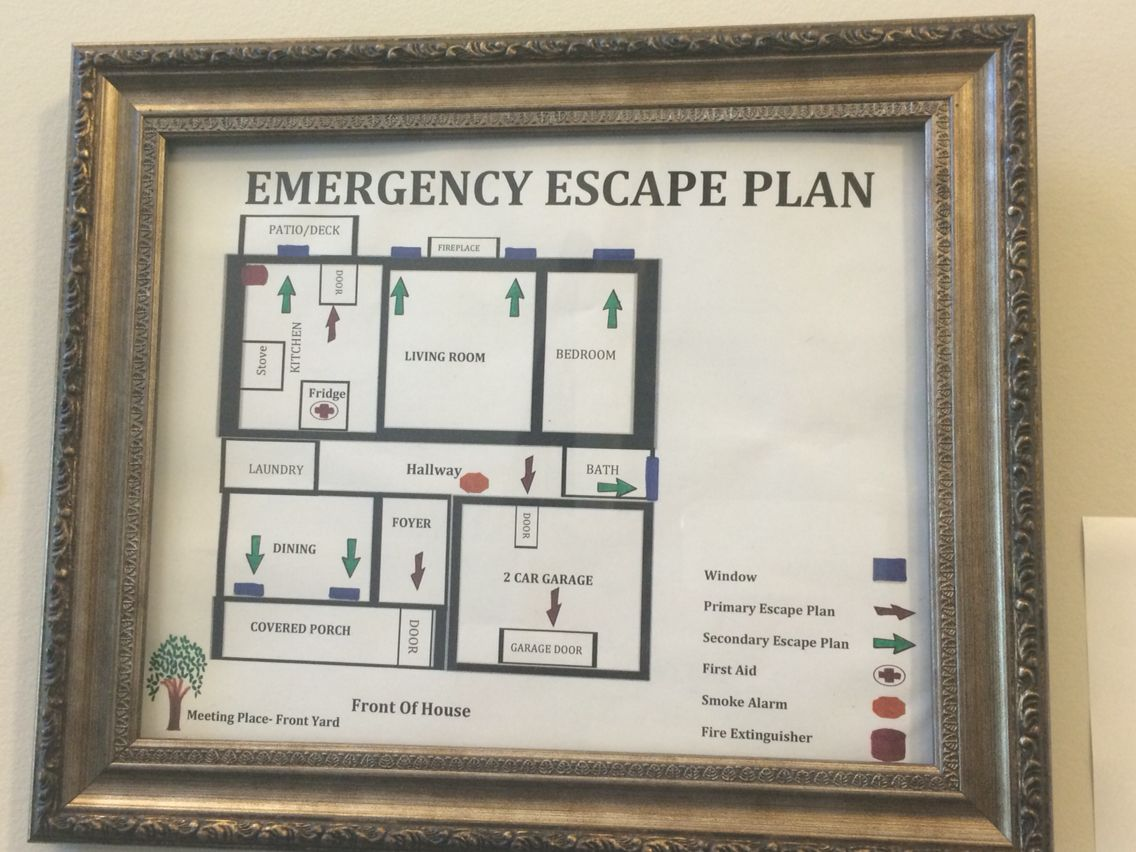emergency escape plan i made this plan for my in home. Black Bedroom Furniture Sets. Home Design Ideas