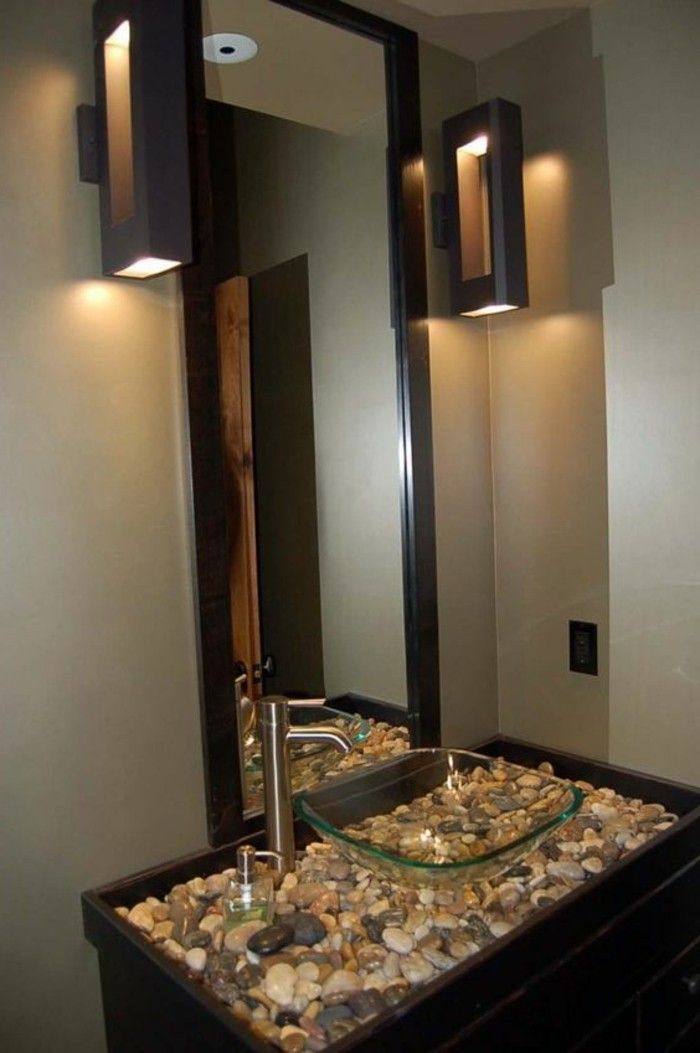 10 badezimmer deko bader ideen eckiger spiegel mit schwarzem