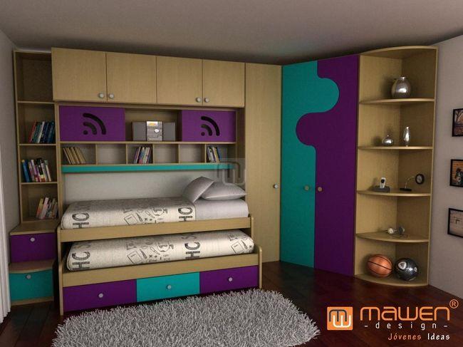 Mawen design muebles rosario buenos aires c rdoba for Camas infantiles diseno moderno
