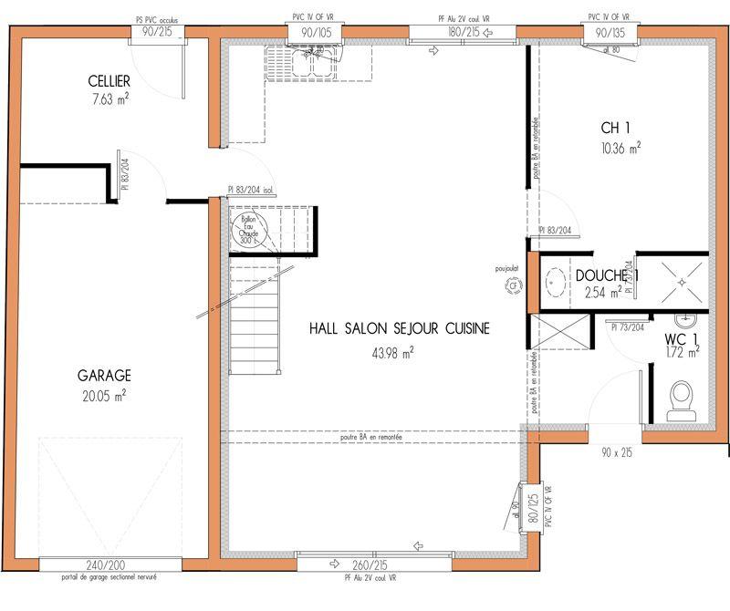 Plan achat maison neuve à construire - Marc Junior modèle de maison