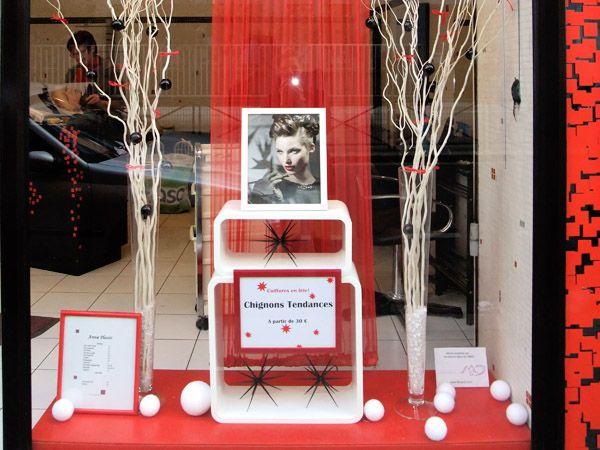 Idee Deco Salon De Coiffure Ida E Da Co Vitrine Salon Coiffure