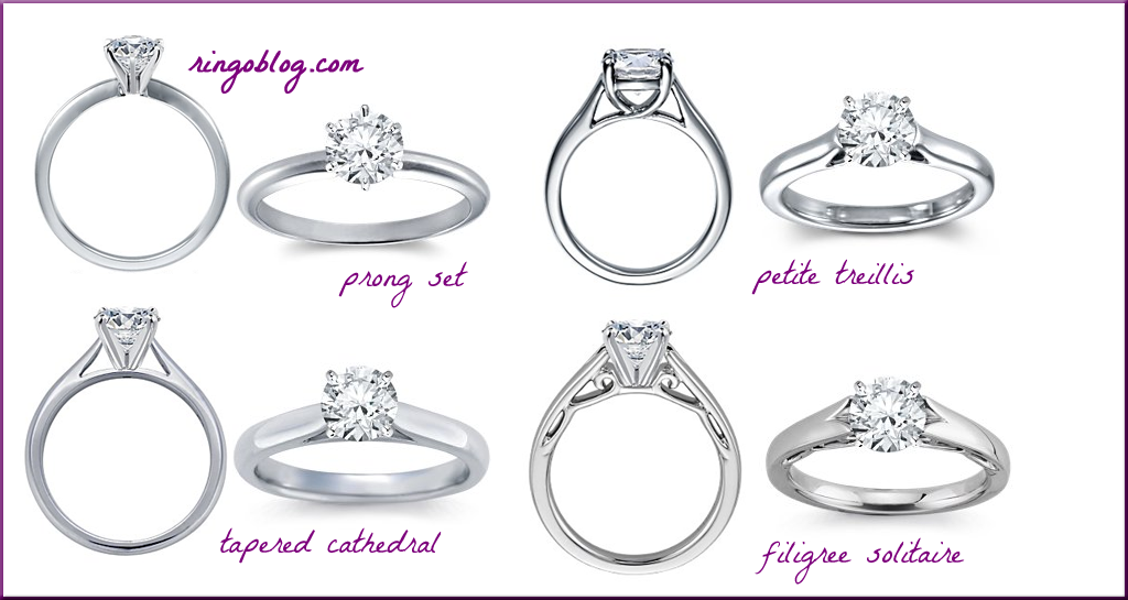 CLASSIC Engagement Ring Settings Styles Weddings Pinterest