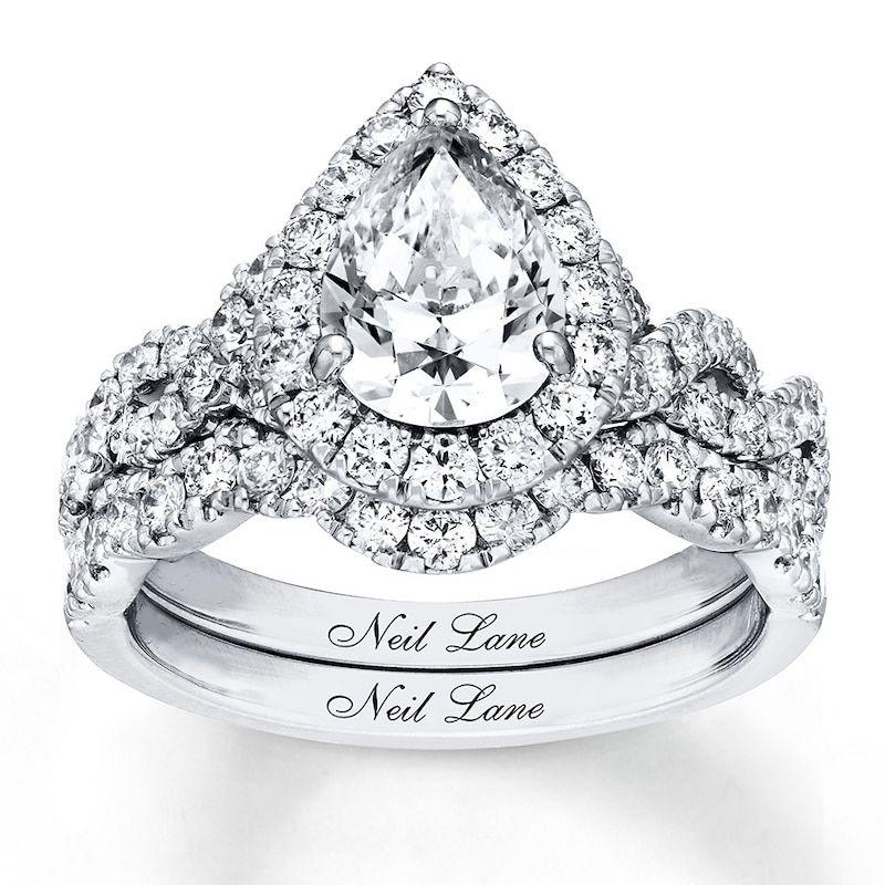Neil lane diamond bridal set 238 ct tw 14k white gold