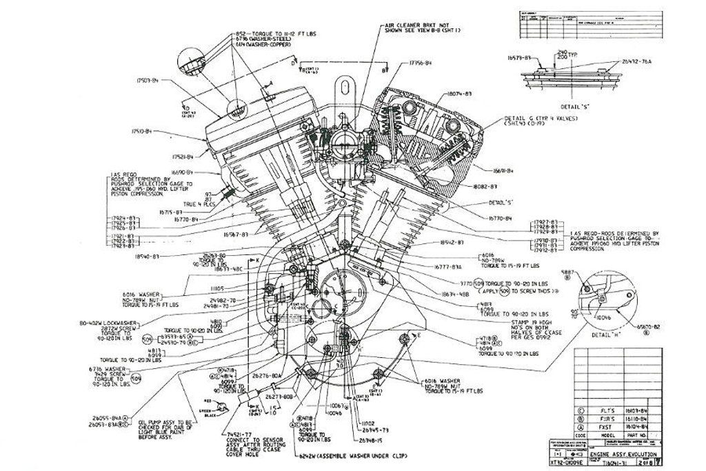 "Harley Davidson Motorcycle Full-Size POSTER! Diagram 1970/'s 24/"" x 36/"""