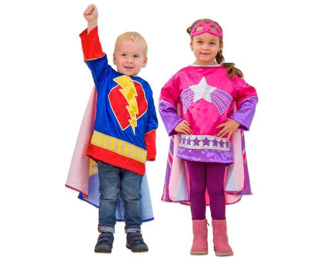 Superhelden Kostum In Zwei Farben Kinder Fasching Betzold