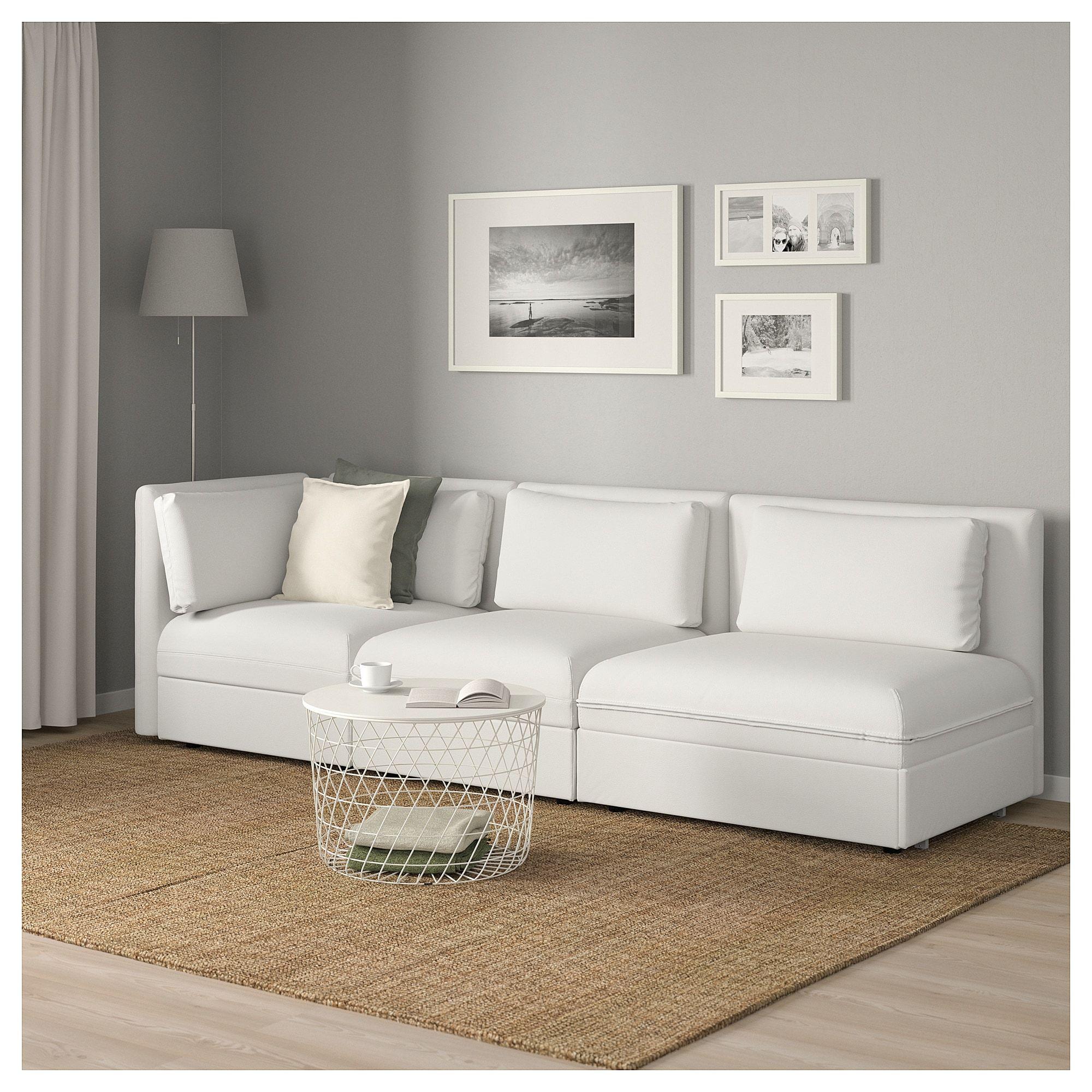 Bankstellen Seats En Sofa.3 Seat Modular Sleeper Sofa Vallentuna With Open End Murum