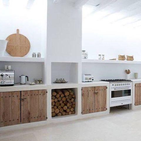 Cocina concreto casa playa marie interiores - Cocinas de obra rusticas ...