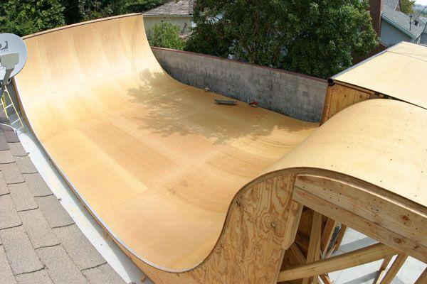 Skateboard ramp surfacing choices skate ramps for Skateboard chair plans