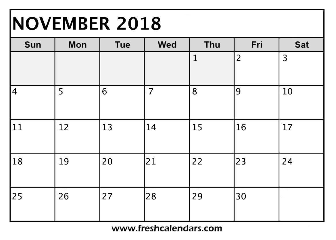 November Calendar To Print Calendar November Print