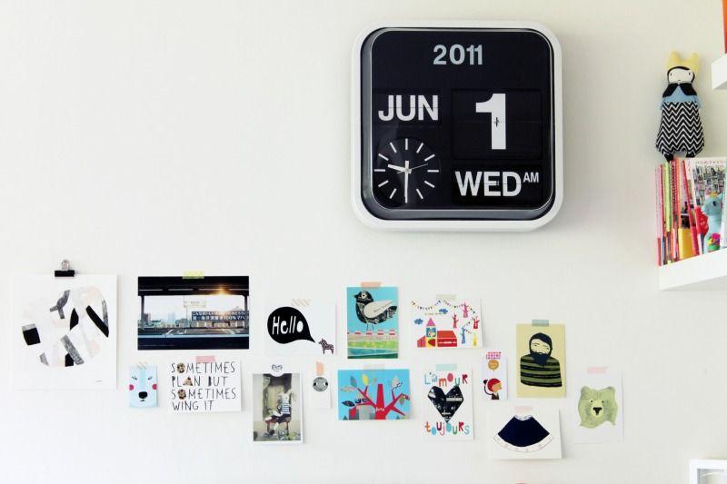 Karlsson Flip Klok : Lovely wall boards flip clock clocks and kids rooms