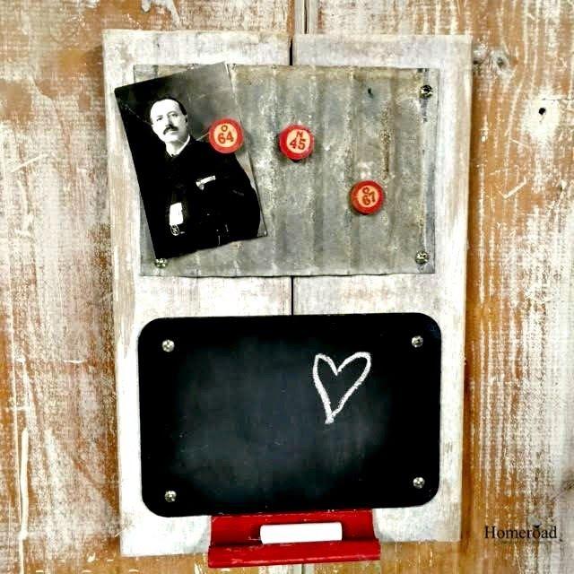 A Corrugated Metal Challenge Turned Memo Board Wwwhomeroadnet Adorable Funky Memo Boards