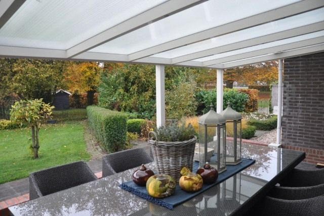Toiture Transparente Pour Terrasse Avec Cadre En Aluminium  Verandas