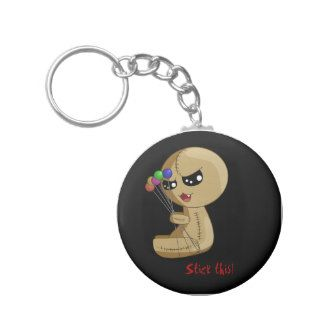 Stick this! basic round button key ring