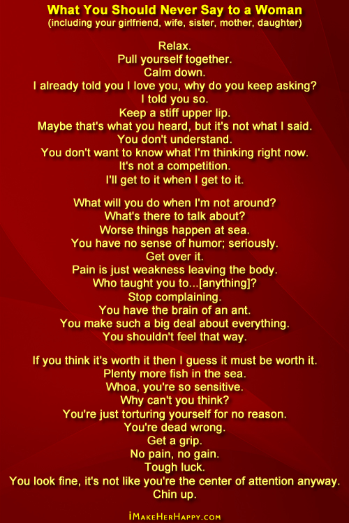 What to say to a woman you love