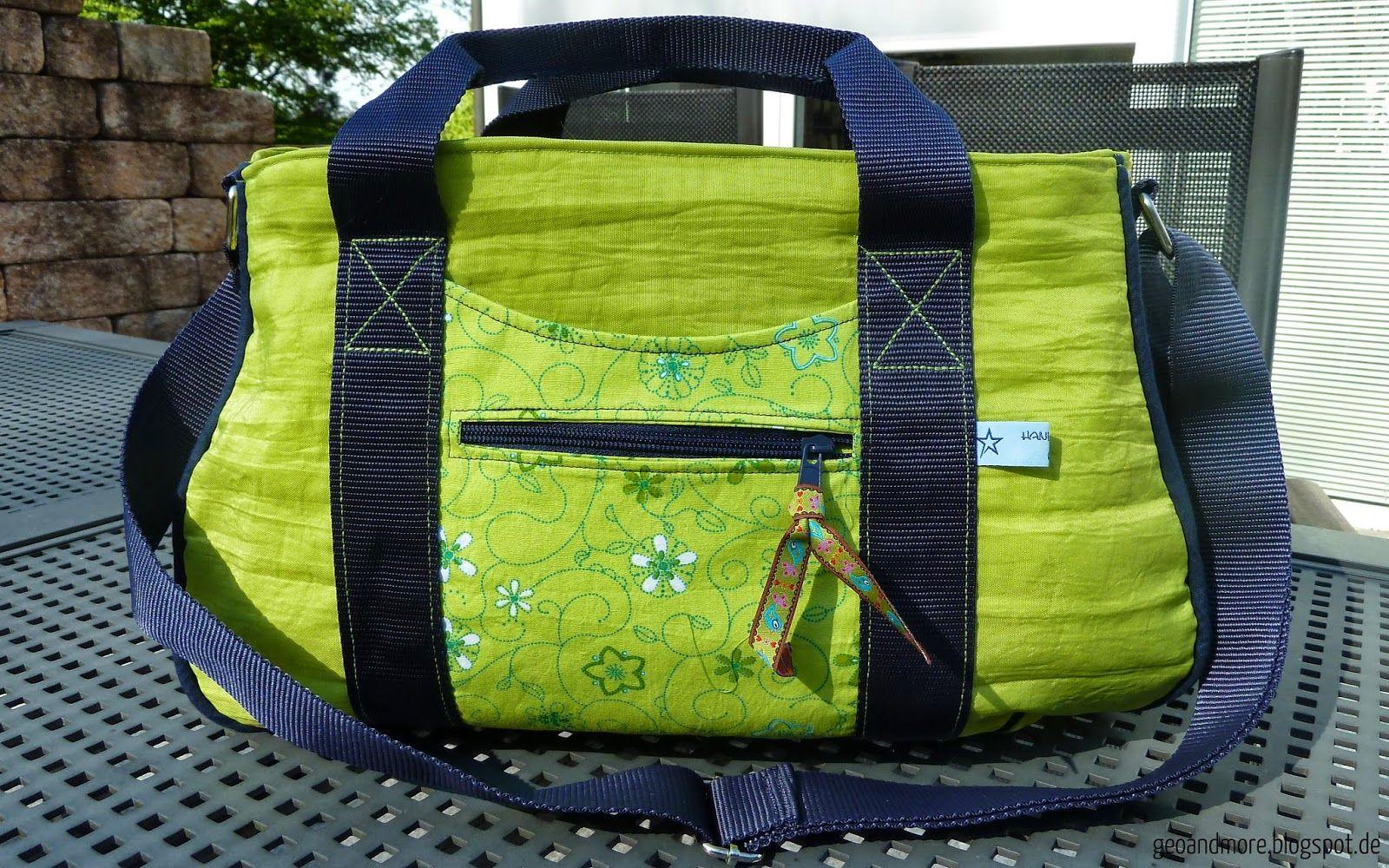 Geo and More: Frühlingshafte Schnabelina Bag   selbstgenähte Taschen ...