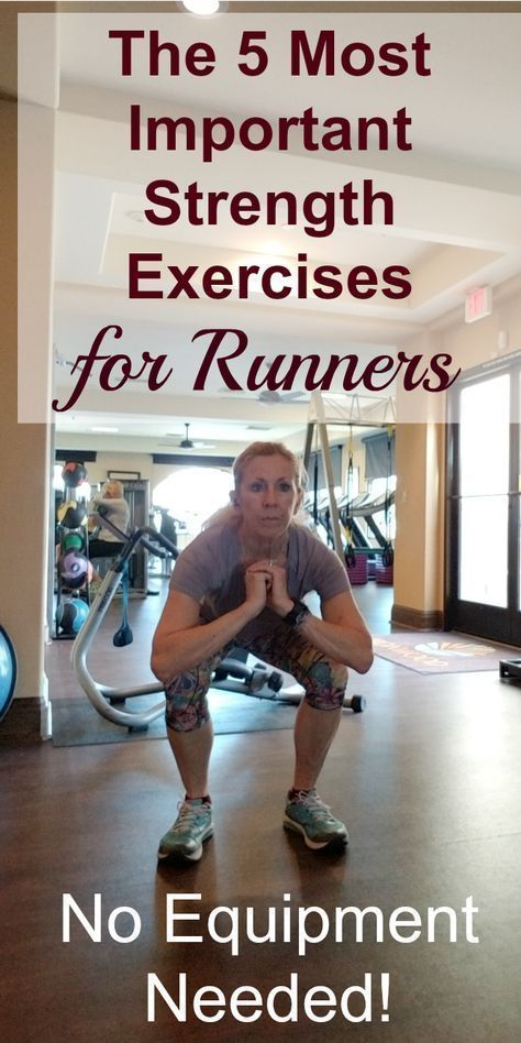 #Equipment #Exercises #important #needed #Runners #Strength Most runners realize the importance of strength training, but many still don't make the time to do it. Here are the 5 most important strength exercises for runners. No equipment needed! #running #runningtips, #strengthtraining #goodcoreexercises