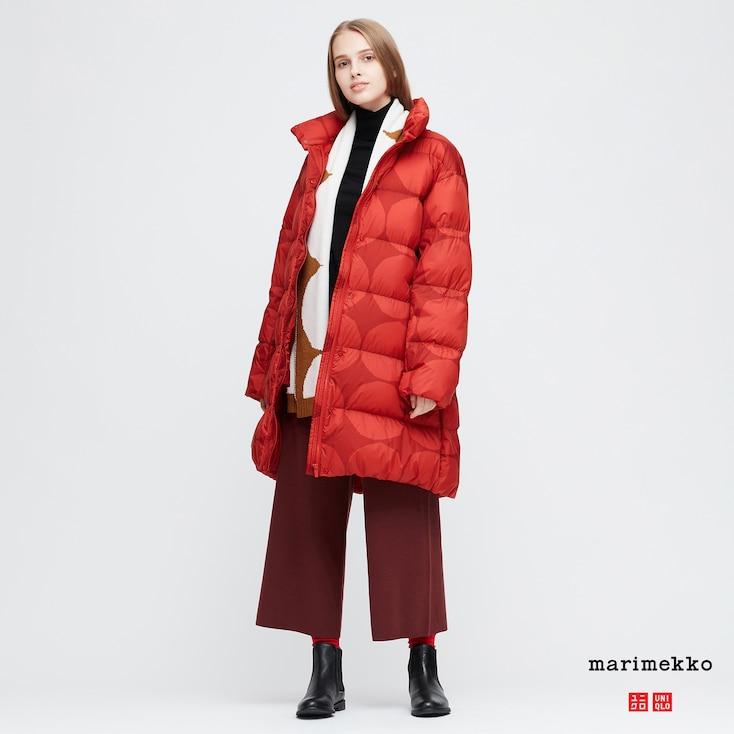 Women marimekko ultra light down cocoon coat in 2020