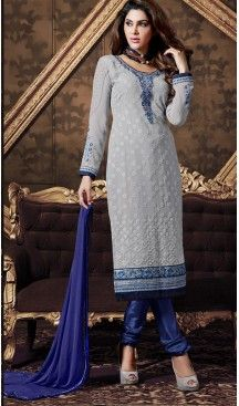 cb339cdd1bd Pakistani Style Party Wear Stitched Dresses in Georgette Fabric and Gray  Color  pakistani