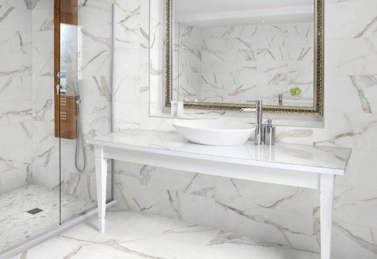 12x24 Mayfair Hd Porcelain Tile Porcelain Tile Bathroom Marble Tile Bathroom Gray And White Bathroom