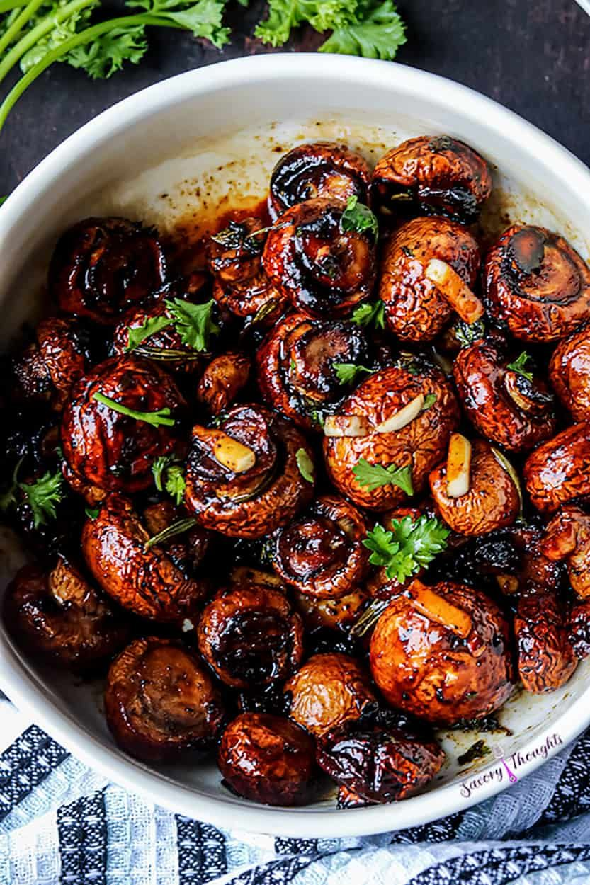 Air Fryer Garlic Mushrooms Recipe in 2020 Side dishes