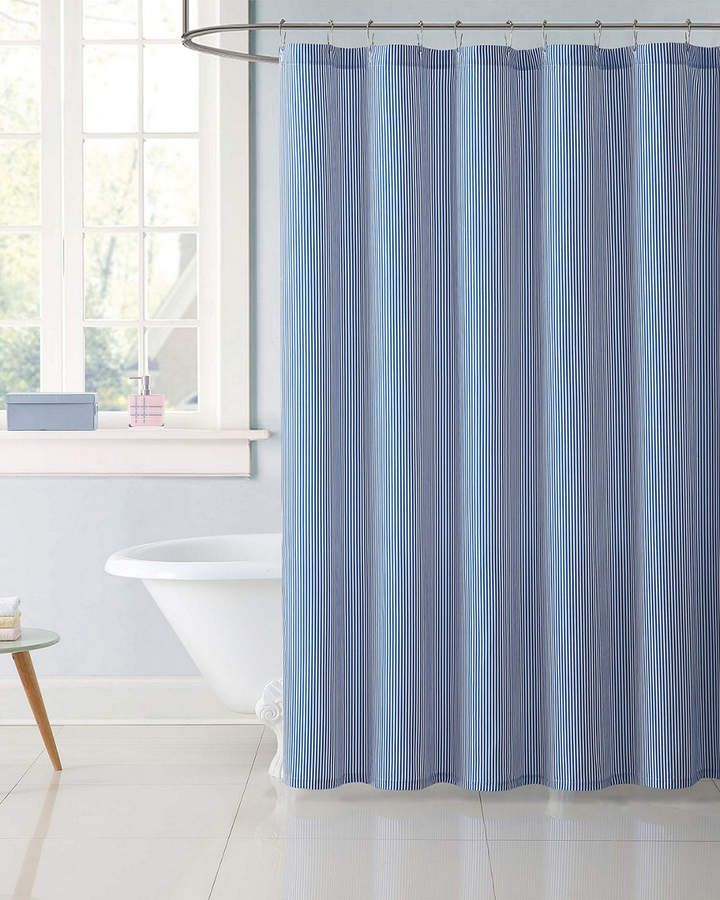 Threshold Shower Curtain Stripe Blue Fringe Target Stylish Shower Curtain Striped Shower Curtains Blue Shower Curtains